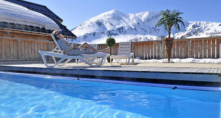 ski piscine chauffee