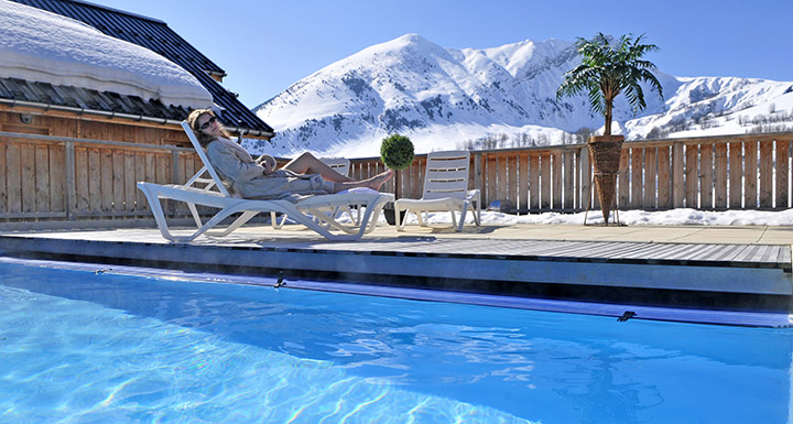 Ski and heated pool