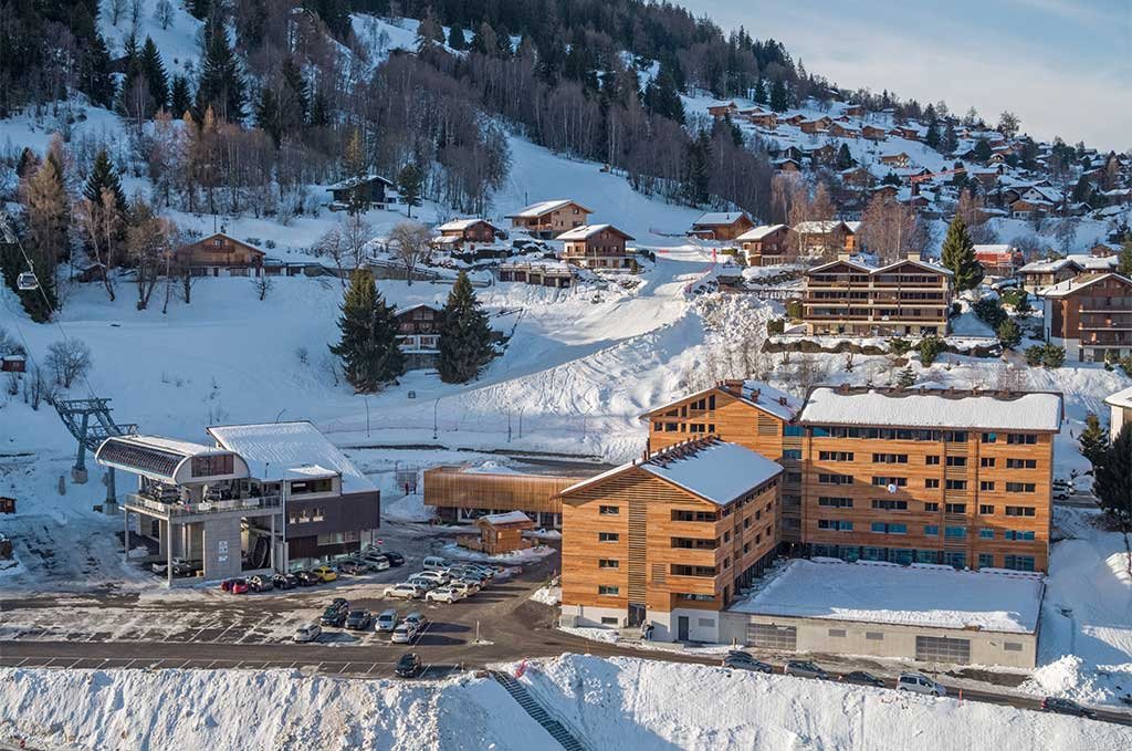 Extérieur de la Résidence de Vacances Swisspeak Resort Vercorin - Suisse
