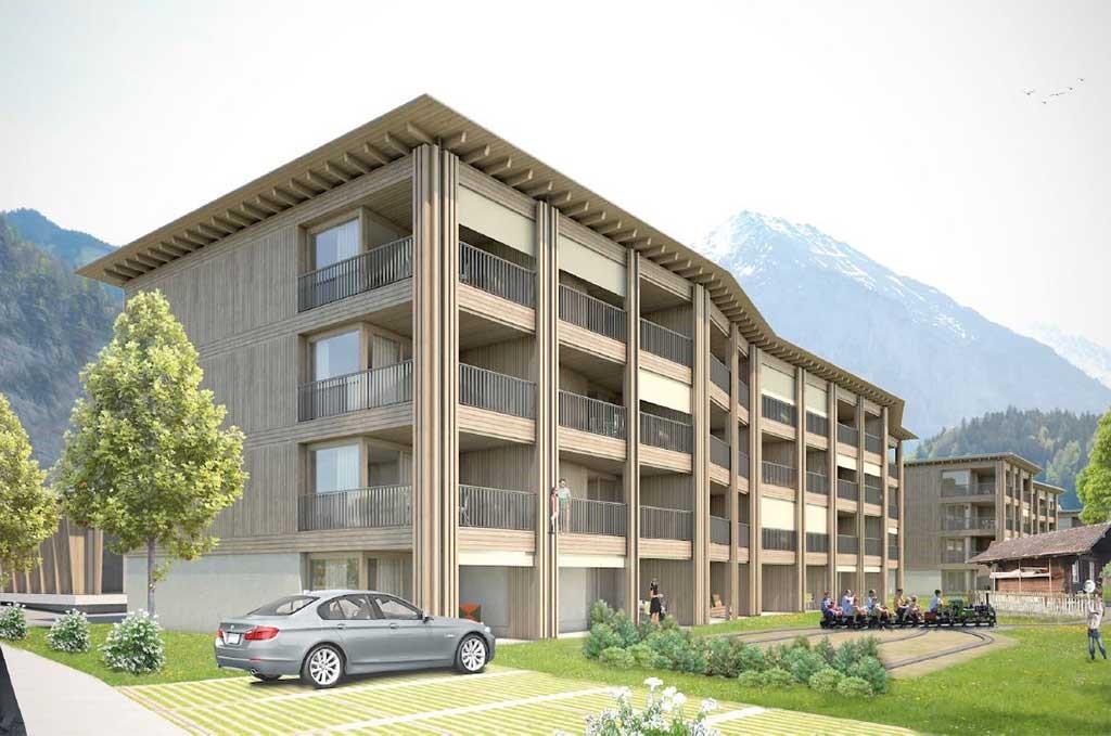 Maquette de la résidence de vacances Swisspeak Resorts à Meiringen