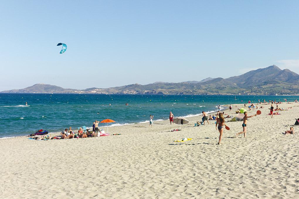 la plage d'Argelès