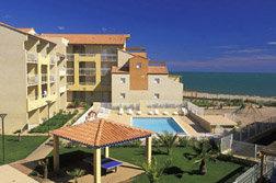Vue de la résidence de vacances Alizea Beach à Valras Plage