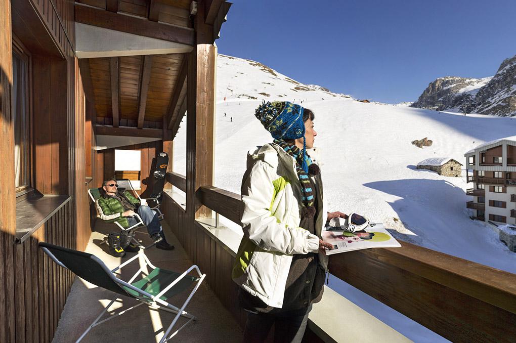 Vue d'un balcon de la Résidence de vacances le Borsat à Tignes